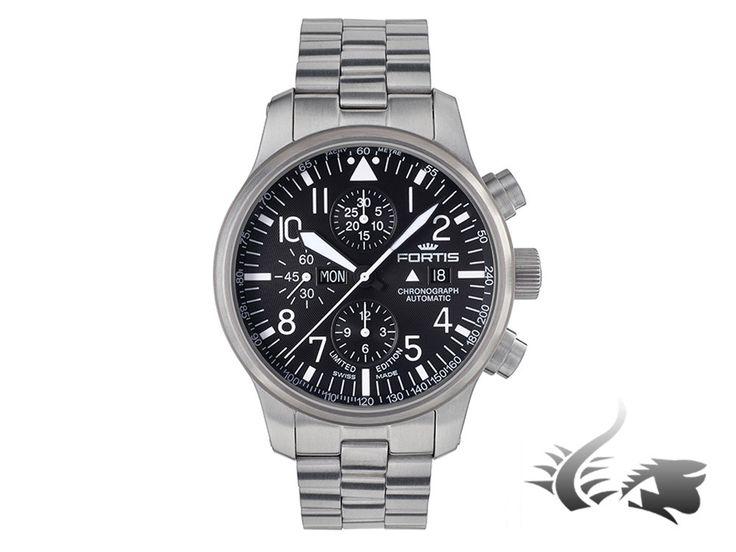 Fortis F-43 Stealth Chronograph Automatic Watch, ETA 7750, Black, Limi   Iguana Sell