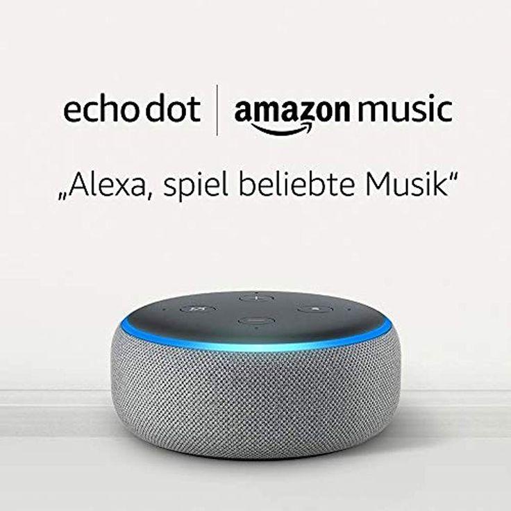 Echo Dot 3. Gen. – Hellgrau Stoff Amazon Music Un…