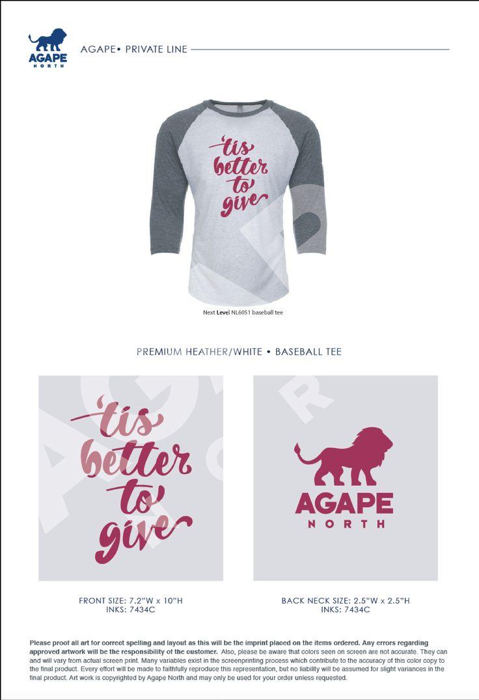 Agape North: Custom Apparel that Gives Back. #giveback