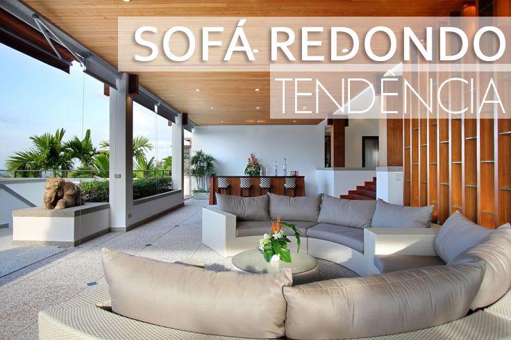 Trend alert: Sofá arredondado! Veja modelos e ambientes decorados com essa tendência! - Decor Salteado - Blog de Decoração e Arquitetura