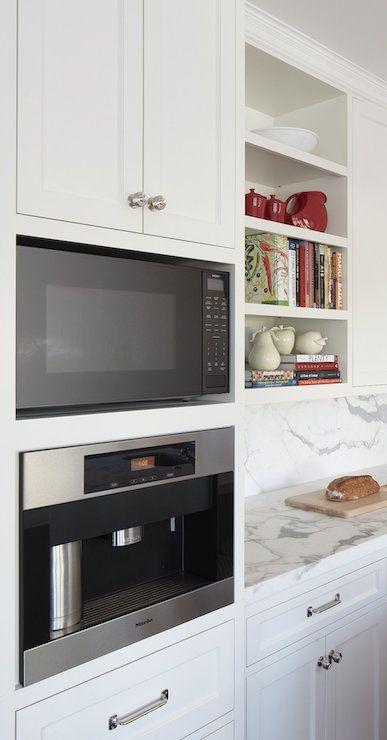 Built In Espresso Machine - Transitional - kitchen - Lauren Ranes