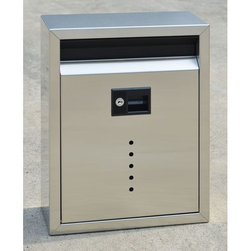 Ecco Brushed Stainless Steel Large Mailbox Fuoriserie Wall Mounted Mailboxes Outdoor