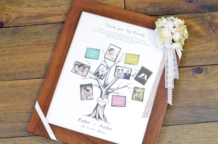 結婚式のご両親へのプレゼントに最適なウェディングツリーとお揃いのファミリーツリー。ウェディングツリー「ボネ」とお揃いのファミリーツリーです。S・M・Lと、サイズも価格も同じです!ご両家と新居で仲良くお揃いのツリーを飾ってください♪ファミリー