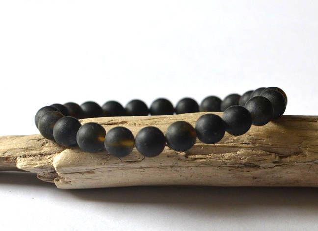 Mens bracelets, amber gift for men, Amber Mens Bracelet, Amber Bracelet, Men's Bracelet, Men's Jewelry, Amber Jewelry for Men by KARUBA on Etsy
