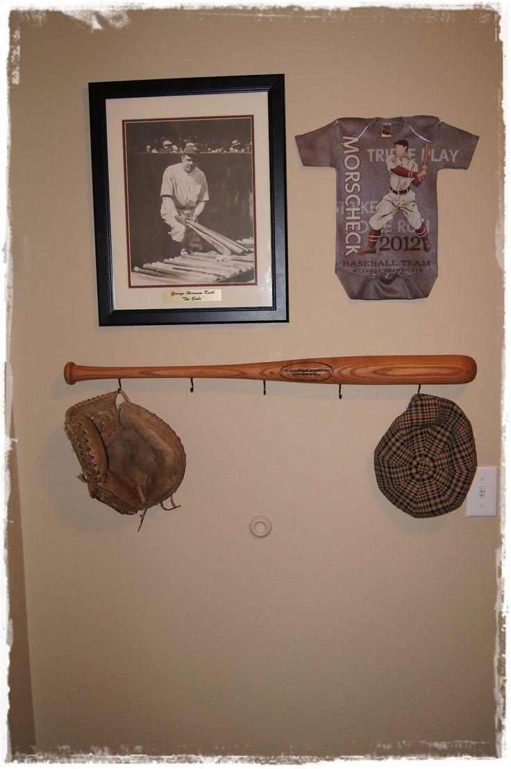 Homemade Baseball Bat Coat Hanger