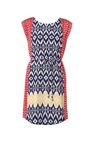 silk ikat dress