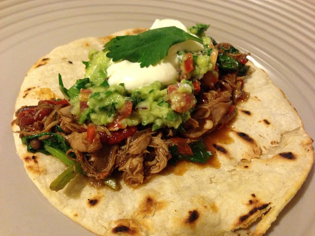 Slow cooker pulled chicken tacos. #Slowcooker #tacos #mexican #chickentaco