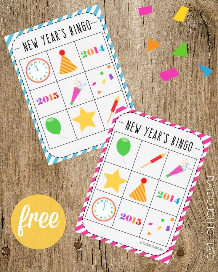 New Year's Bingo. Fun New Year's Eve game for kids!!