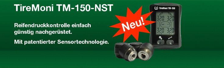 TireMoni TM-150-NST: neue Sensor-Technologie für Reifendrucksensoren: Reifendruck per Funkübertragung anzeigen.