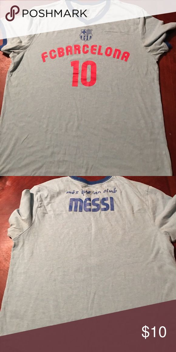 messi #10 fc Barcelona t-shirt | Large Fc Barcelona | Messi Shirts Tees - Short Sleeve