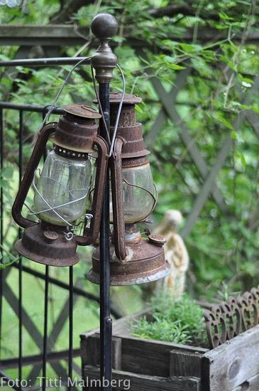 HWIT BLOG; Old oil lanterns make a great Garden Element