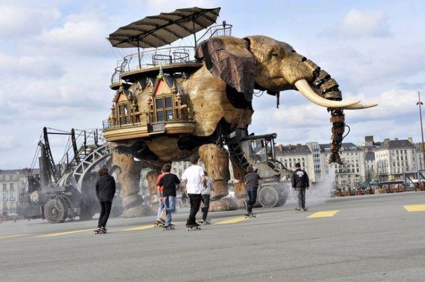 Amazing sculptures and street art: Funny Street, Street Heart, Street Art3D, Beautiful Sculpture, Art3D Anamorphia, Elephants Des, Elephants Caravan Nant, Machine, Grand Elephants