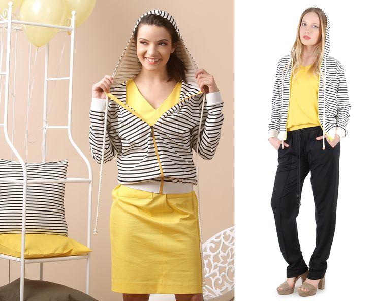 Relaxed & Happy SUMMER17   YOKKO #casual #dayoutfits #stripes #informal #smile #fashion #style #women #beauty #summer17 #yokko