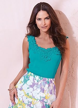 Lace And Jersey Top #kaleidoscope #summer #fashion