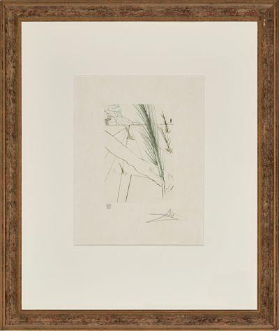 "Salvador Dali  spansk 1904 - 1989  ""Love's Labours Lost"" 1970 Fargeetsning på japanpapir, 109/250, 17,5x12,5 cm Signert nede til høyre: Dali   Fra serien ""Much Ado about Shakespeare"" 1970"