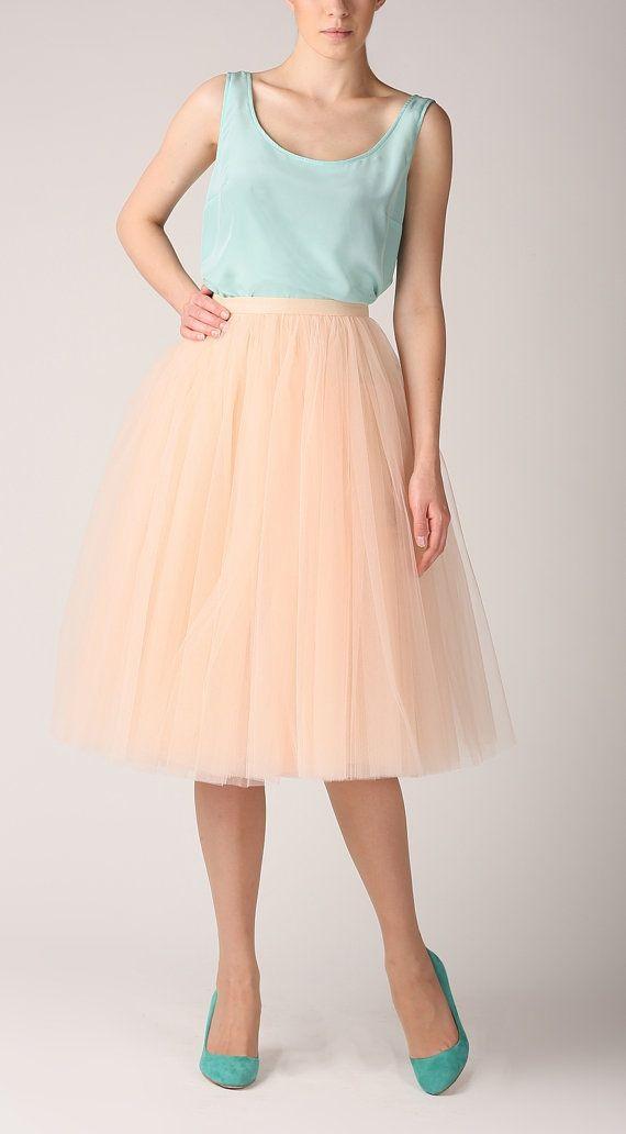 Tulle skirt, long petticoat, high quality tutu skirts, tulle tutu, tealength tutu