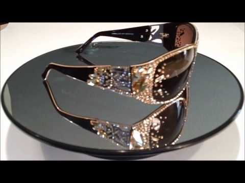 Jimmy Crystal Lady Gaga Style Sun Glasses Iced Out Frame ...