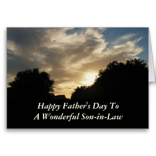 To My Son On Father S Day Quote: Father's Day, Son-in-law, Clouds And Sun And Trees