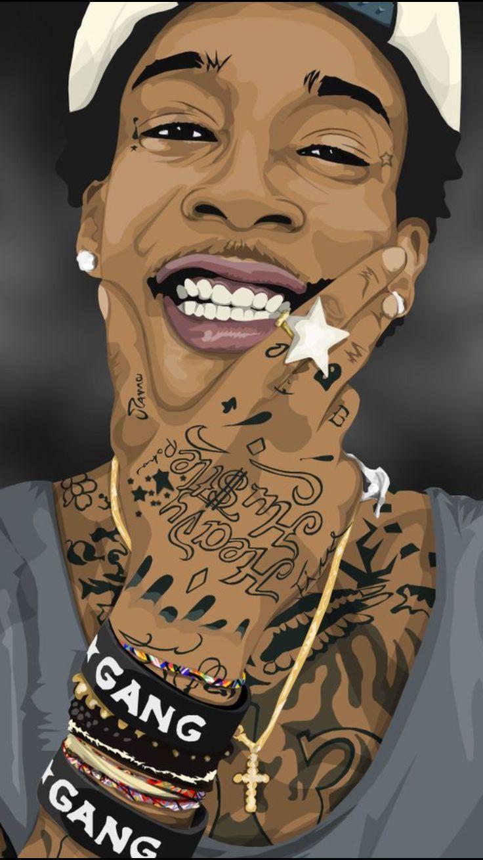 Wiz Khalifa The Wiz Rapper Art Hip Hop Artwork