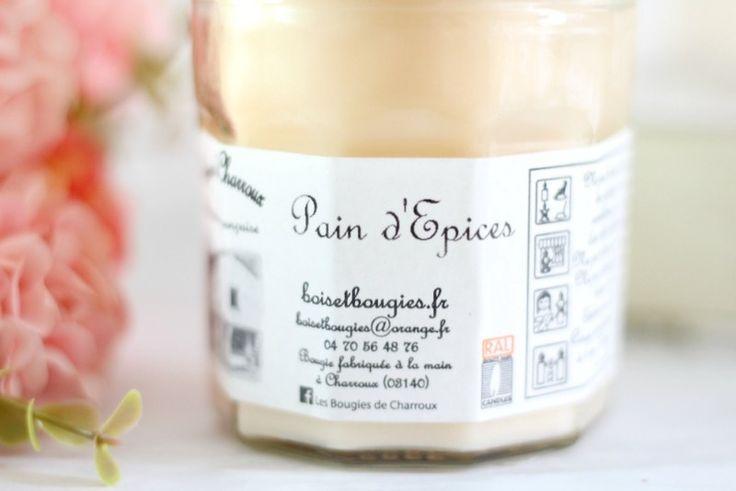 Bougie Pain d'épices Bougies de Charroux - Senteur gourmande et légèrement épicée parfaite pour la période des fêtes ou pour l'hiver #candle #bougie