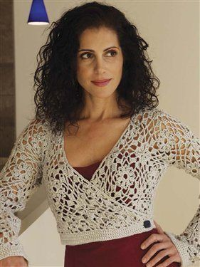 This gorgeous crochet motif wrap is a favorite.  Maggie Wrap, As Seen on Knitting Daily TV Episode 111 - Crochet Me