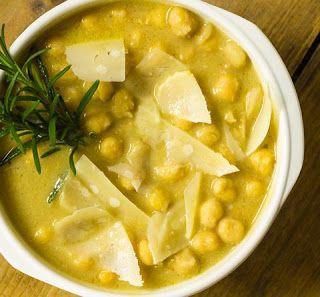 COMIDINHAS FÁCEIS E SAUDÁVEIS: Sopa de grão de bico com lentilha