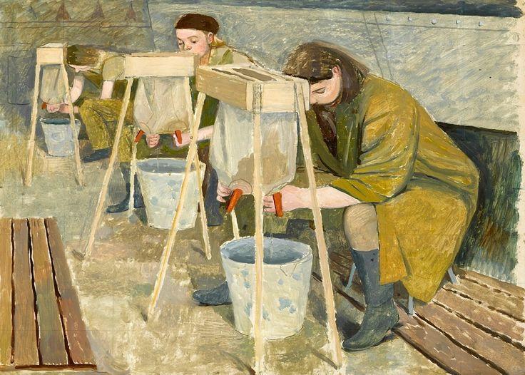 Эвелин Мэри Данбар (1906 –1960) была британским художником, известной  живописной летописью женского вклада во Вторую мировую войну в тылу Соединенного Королевства, особенно интересна ее работа «Земледельческая армия». http://tanjand.livejournal.com/1537924.html