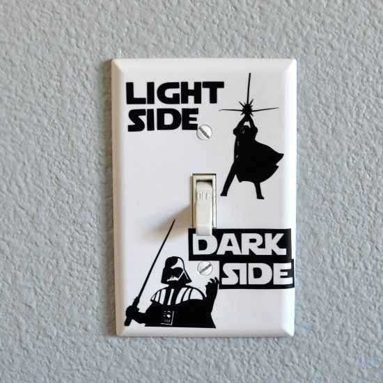 Show them the path back to the light. DIY star wars switch plate tutorial