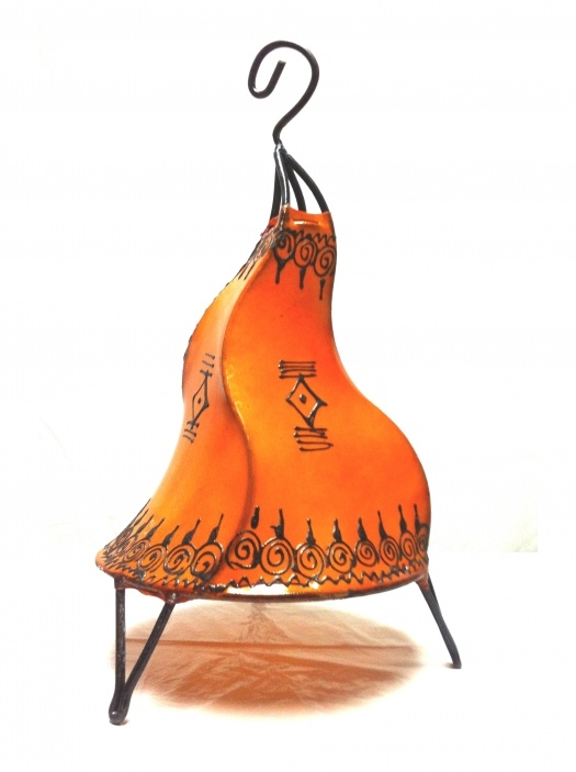 Moroccan Henna Table Lamps -Orange | Artsiya