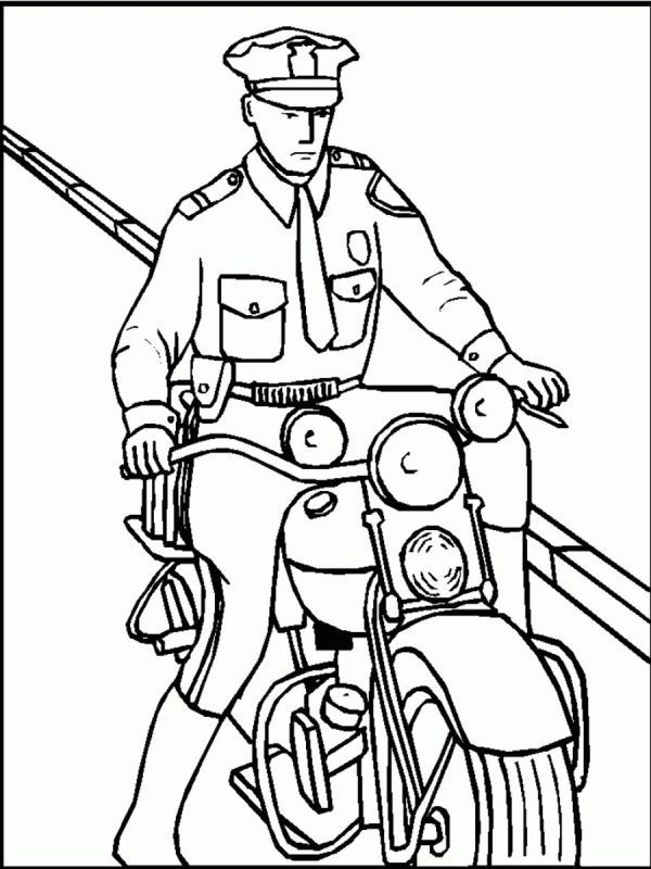 Printable Policeman Coloring Pages In 2020 Coloring Pages For Kids Coloring Pages Coloring Books