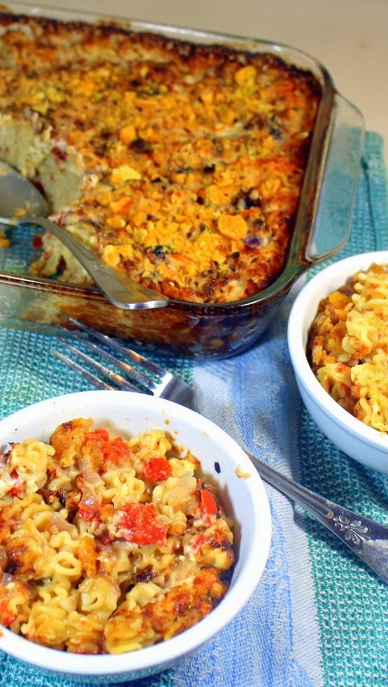 Baked (FREEZABLE) Four Cheese Tomatoes and Pasta (A REALLY GOOD MAC and CHEESE) Includes hints for serving half and freezing half for another day... This is THE BEST Macaroni and Cheese you can imaging. 4 Cheeses make for creamy decadent deliciousness while the addition of the tomatoes add something uniquely special.. LOVE THIS!!!