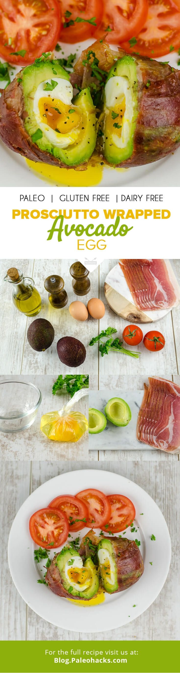 Give your morning a kick start with this prosciutto-wrapped avocado egg, loaded with omega-3, protein and healthy fatty acids \u2013 everything you need for a nourishing breakfast. For the full recipe, visit us at: http://paleo.co/wrappedavoegg #weightlossmotivation
