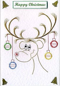 Rudolph - forum gallery stitching card of the week:
