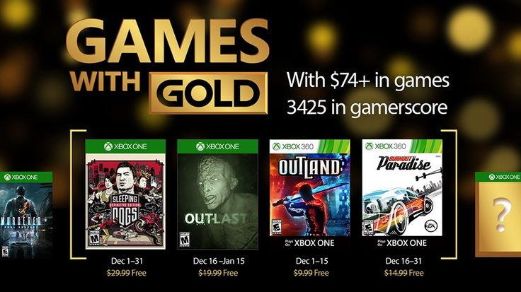 Microsoft Names Four Xbox Games for Gold Titles in December: The latest Xbox One Games for Gold titles include Sleeping Dogs: Definitive…
