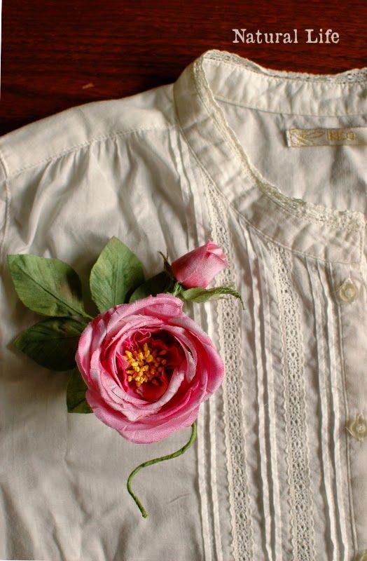 ナチュラルな暮らし。: The Haberdashery Rose バラのコサージュ