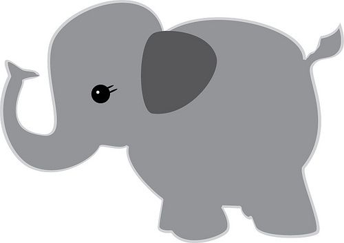 Baby Elephant Svg File Silhouette Freebies Nothing