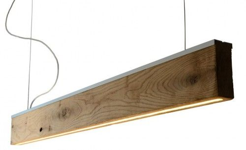Drewniana Lampa wisząca dąb