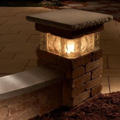 Necessories 20 in. Santa Fe Lakeland Pillar with Glass-4201034 - The Home Depot - (4)
