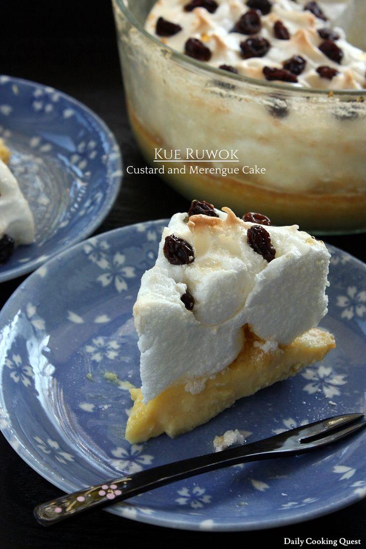 Kue Ruwok – Custard and Merengue Cake