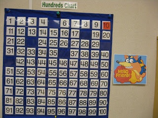 Swiper steals some numbers from the 100 chart each evening after the students go home. The next morning students figure out what numbers he swiped. Cute idea!