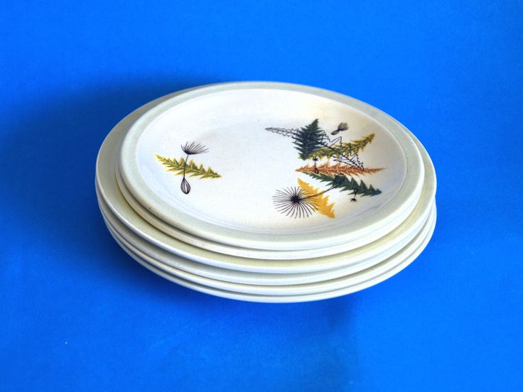 Vogue Simpsons Potters Thistledown Saucers & Side Plates - Cobridge England - Colin Haxby - Mid Century Scottish Design by FunkyKoala on Etsy