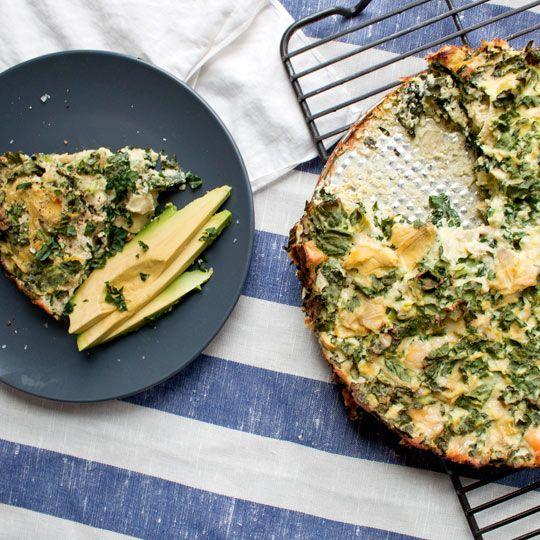Kale and artichoke frittata