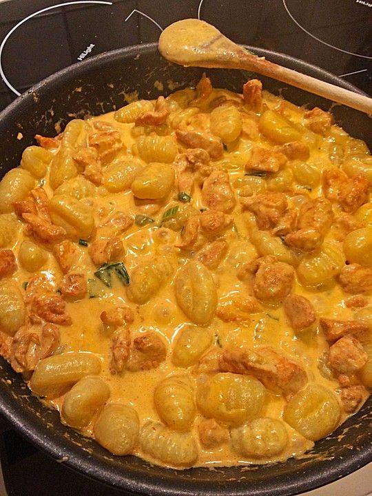 Curry Gnocchi mit Hähnchen 1
