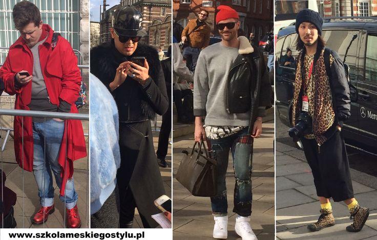 Tak prezentowali się panowie podczas London Fashion Week.