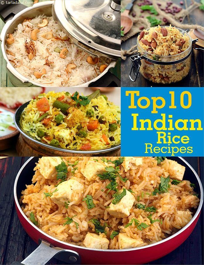 Top 10 Indian Rice Recipes, Veg Pulao Recipes | TarlaDalal.com | #2