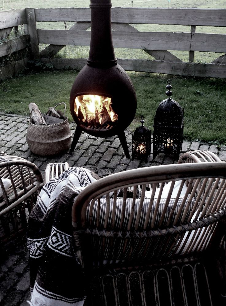 Outdoor fireplace for the yard - different than a regular fire pit