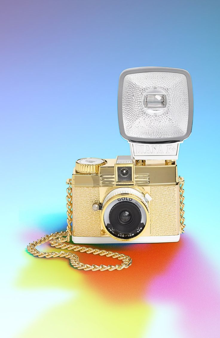 'Diana F+ Mini - Gold Edition' Film Camera by Lomography - Found on HeartThis.com @HeartThis
