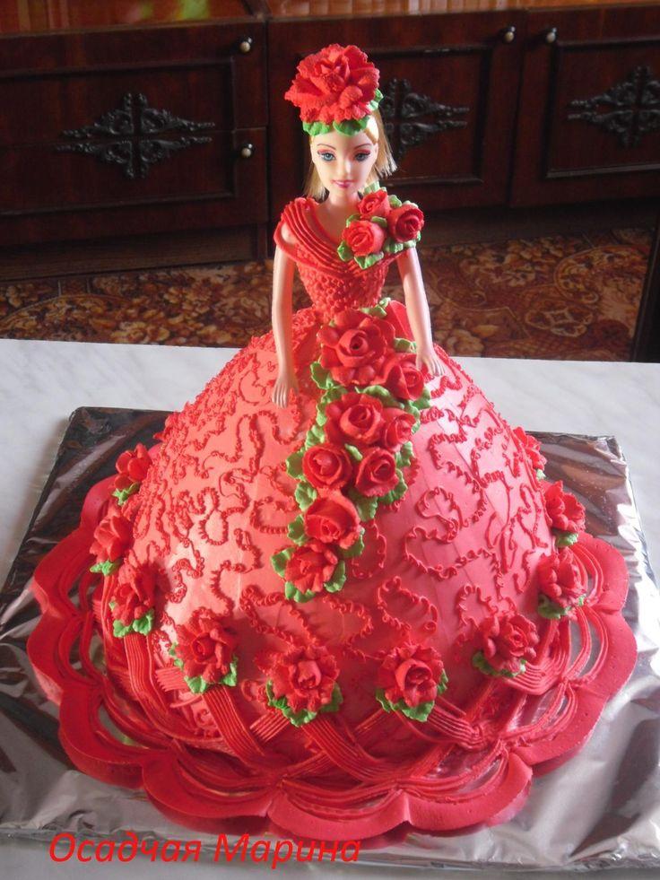 Best 25 Barbie Cake Ideas On Pinterest Doll Cakes