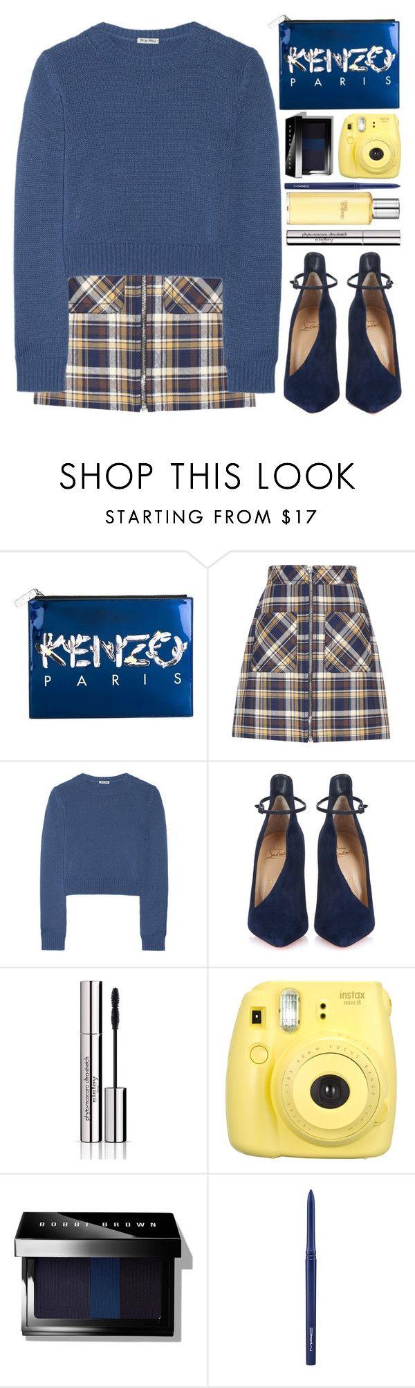 """#800 Marina"" by blueberrylexie on Polyvore featuring Kenzo, Miu Miu, Christian Louboutin, Sisley Paris, Bobbi Brown Cosmetics, MAC Cosmetics, Hermès, women's clothing, women and female"