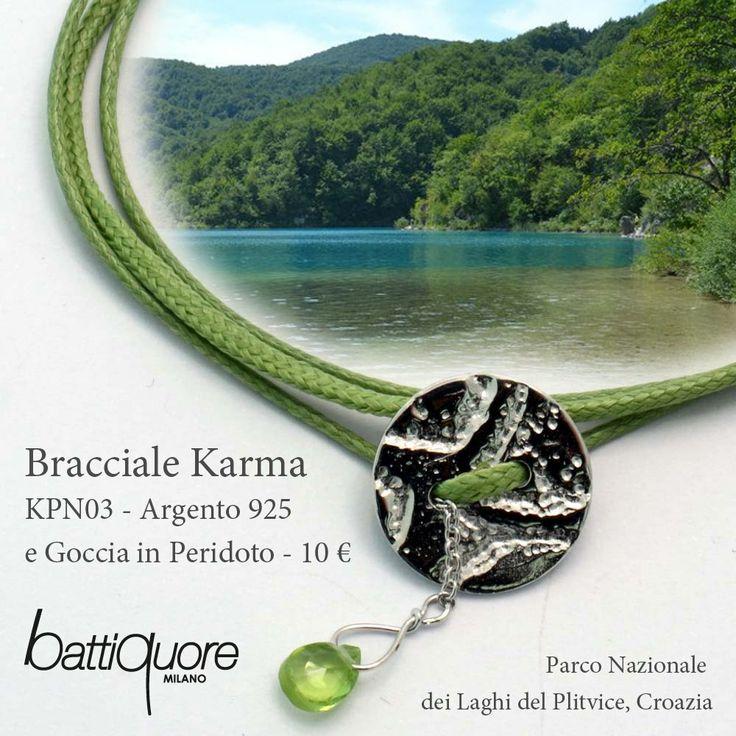 #cartoline Battiquore, nuovi bracciali Karma ad un prezzo davvero speciale: solo 10 €, spedizione inclusa ! #newcolor #green #croazia shoponline http://www.battiquore.it/shop/it/karma/131-kpn03.html